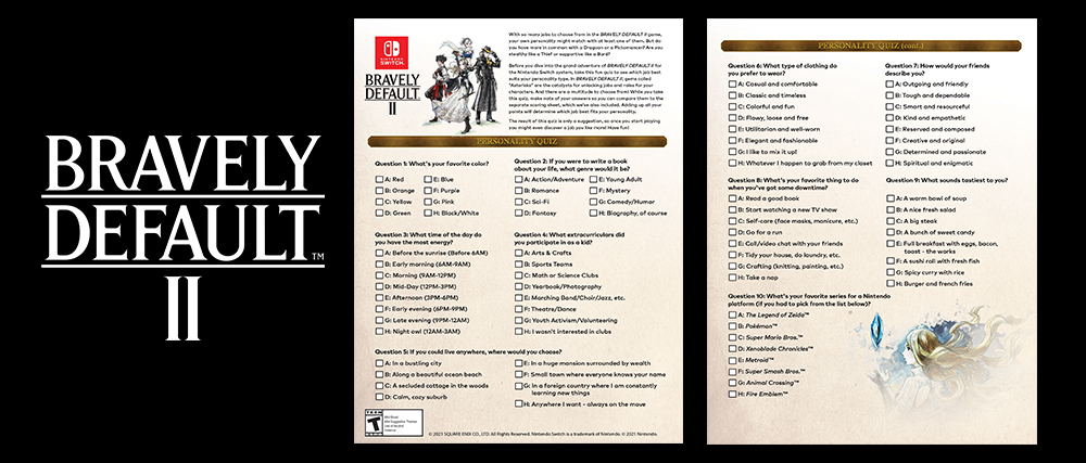 "FEATURE: I Took Nintendo's ""Bravely Default"" Personality Quiz"